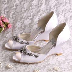 Ericdress Comfortable Wedge Heel Rhinestone Wedding Shoes
