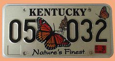 US Nummernschild Kentucky - Nature's Finest - original . Original US-Nummernschild Kentucky - Nature's Finest - KFZ Zeichen 05 032    Original US-Nummernschild