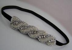Beaded Applique Headband  for Women and Teens by PreciosaCouture, $21.00