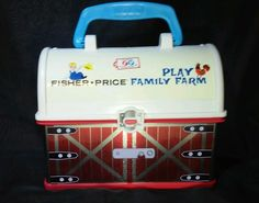 Fisher-Price Little People FAMILY FARM LUNCHBOX lunch box barn storage 2008  #FisherPrice