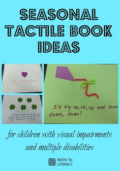 Seasonal tactile book ideas for children with visual impairments and multiple disabilities