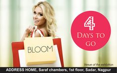 4 days to go... #Bloom at #Nagpur!!! 15th and 16th dec from 11am- 8pm at Address Home, Saraf Chambers, 1st Floor, Sadar Nagpur. #exhibition #winterwear #fresharrivals #fall2015 #HolidayShopping #Comeonin #latestcollection #winteroutfits #shopping #clothing #womenswear #Accessories #Apparel #Popular #newcollection #boutiquestore #RetailTherapy #designerwear