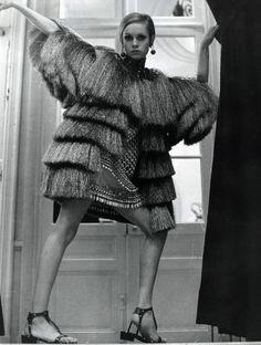 1967 - Twiggy in Yves Saint Laurent