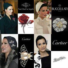 Sheikha Mozah's spectacular diamond brooch collection