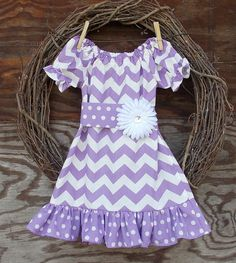 Girls Purple Chevron dress Girls Easter Dress by SouthernSister2