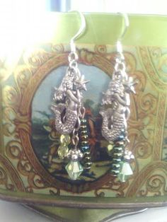 *SOLD*  La Sirena dangle earrings