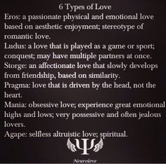 types of love