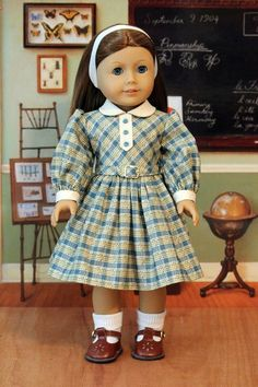 Fall Dress for Dolls like Emily and Molly by BabiesArtUs on Etsy: