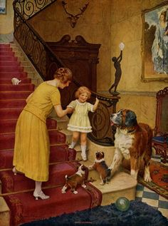 Good Morning (c. 1925), by English artist - Arthur John Elsley (1860-1952)