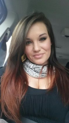 Brown to Auburn ombre hair! Loving my new color!