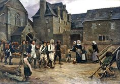 The mutineers of Fouesnant arrested by the National Guard of Quimper in 1792