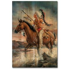 Legends of the West Painting Print on Wood