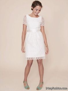 13e496c40ea Simple lace dresses review Check more at https   24myfashion.com wedding ·  Lace Dress With SleevesShort ...