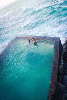 pool on ocean