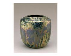 "Mary Chase Perry Stratton (1867-1961) - Pewabic Pottery - Vase. Glazed Pottery. Detroit, Michigan. Circa 1920. 6-1/2""."
