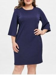 Knee Length Plus Size Tunic Dress