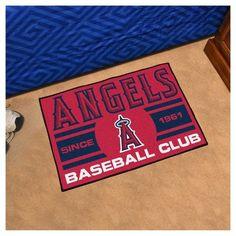 "MLB Los Angeles Angels Baseball Club Starter Rug 19""x30"""