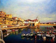 "MARKEL FLORES. Painting: ""Getxo Bizkaia Pays Basque"""