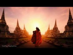 """""""Should a seeker not find a companion who is better or equal, let them resolutely pursue a solitary course."""" ~ The Buddha Monk walking at Ayutthaya historical park.Ayutthaya ,Province in thailand. Healing Meditation, Meditation Music, Michelle Lewin, Dalai Lama, Krav Maga, Kung Fu, Martial, Karma, Thai Monk"""