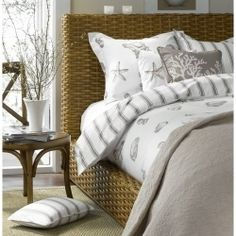 Let your bedroom be the ultimate spot for rest and relaxation by having  a beach themed bedroom.     Here you'll find some wonderful beach trinkets...