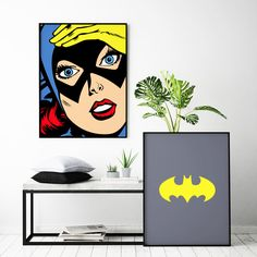 Batgirl Symbol Customizable Comic Book Illustration High