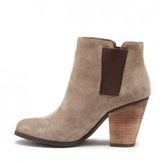 Women's Smoke Taupe Suede 3 Inch Ankle Bootie | Lylee by Sole Society
