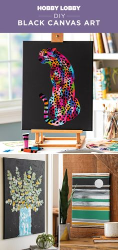 Accentuate every color you use with black canvases in your projects.