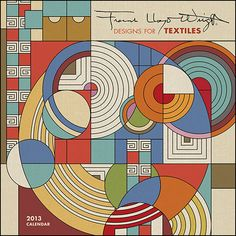 Frank Lloyd Wright Designs Mini Wall Calendar: Throughout a career marked by perpetual invention and reformation, Frank Lloyd Wright (American, 1867 – 1959) never ceased to spin designs for everything from carpets to carports. $7.99 http://calendars.com/Architecture-and-Design/Frank-Lloyd-Wright-Designs-2013-Mini-Wall-Calendar/prod201300002065/?categoryId=cat00005=cat00005#