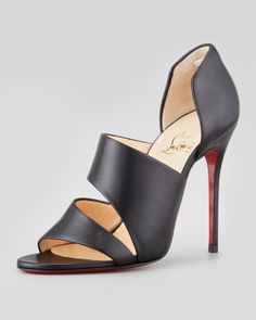 Christian Louboutin Martissimo Open-Side Red Sole Bootie - Neiman Marcus