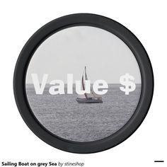 Sailing Boat on grey Sea Set Of Poker Chips