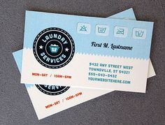 Laundry Services business card template design by StockLayouts     www.stocklayouts.com