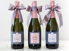 Bachelorette Bubbles Party Idea. Give them a personalized bottle of wine or champagne as a givt or invitation. You can customize the printing labels with each guest's names written on.