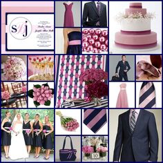 navy mauve and green wedding | Remember to leave a comment below! Love to hear your thoughts and ...