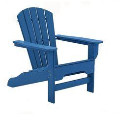 Adams Mfg Corp Teal Resin Stackable Adirondack Chair