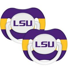 LSU Baby Pacifier #LSU #Infant #Baby #Toddler #Babyfans