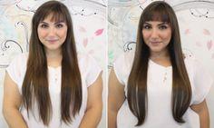 cabelos apos tratamento com queratina