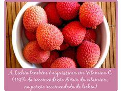 A Vitamina C, muito presente na Lichia, auxilia na imunidade e é anti-inflamatória. O Potássio também é um mineral presente nessa fruta, ajudando a manter a pressão arterial e a retenção de líquidos sob controle.