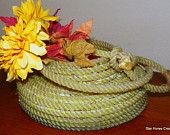 Lariat Rope Basket with Hondo accent