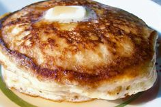 Real good and easy recipe for homemade pancakes from scratch. It calls for 2cups flour, 1 3/4cup milk, 2eggs, 3TBSP sugar, 1tsp salt, 2TBSP baking powder, and 1/4 cup of butter (melted) but i put a half of cup (1stick) cause i like my pancakes nice a buttery. I just tried it this morning with my boys. They were so in love with it they wanted pancakes for lunch too! Lol