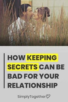 Keeping secrets is very common in a relationship or marriage. People often choose to keep certain truths from their partner or spouse in order to avoid hurting their feelings. But the truth is, it often does more damage than anticipated. Trust In Relationships, Relationship Advice Quotes, Communication Relationship, Relationship Challenge, Strong Relationship, Relationship Problems, Marriage Advice, Signs Of Emotional Abuse, First Date Tips