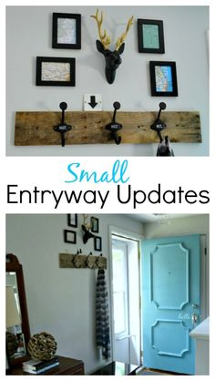 Decor updates to a small entryway. www.chatfeldcourt.com