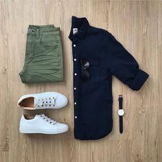 """c9535ffd3 Marco da Moda on Instagram: """"Dêem uma olhada nesse combo com calça verde  militar. Gostaram?"""""""