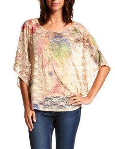 floral graphic lace top. LOVE