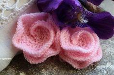 fleur, tricot, kwiaty, druty, flower, knitting