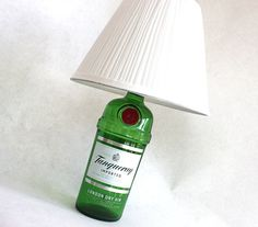 Tanqueray gin liquor bottle lamp .
