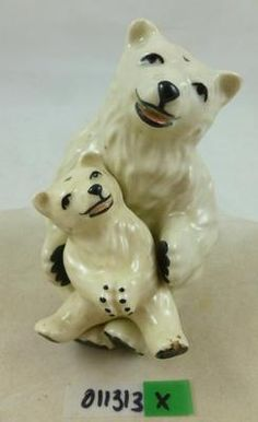 Vintage Ceramic Arts Studio Salt Pepper Shakers Polar Bear Nesting Cub AOK | eBay