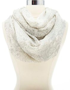 Floral Print Infinity Scarf #CharlotteRusse #CRFashionista