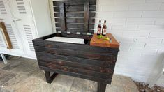 Open for business! DIY Cooler Deck Box hides your ugly cooler and gives you a place to entertain! #diy #coolerdeckbox #outdoorfurniture Large Cooler, Diy Cooler, Cool Deck, Diy Deck, Bench With Back, Privacy Screen Outdoor, Deck Box, Outdoor Kitchens, Do It Yourself Projects