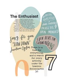 Pin on signs & stuff☆ Type 7 Enneagram, Feeling Wanted, Mbti Personality, Entp, Thing 1, Best Inspirational Quotes, Psychology Facts, Bible Lessons, Some Words