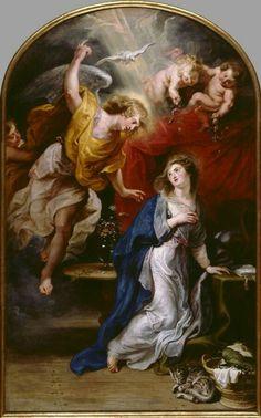 Annunciazione. 1610-28. Incompiuta. Fu trovata nello studio di Rubens alla sua morte.